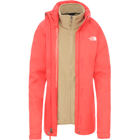The North Face Evolve II Chaqueta Triclimate Mujer, cayenne red